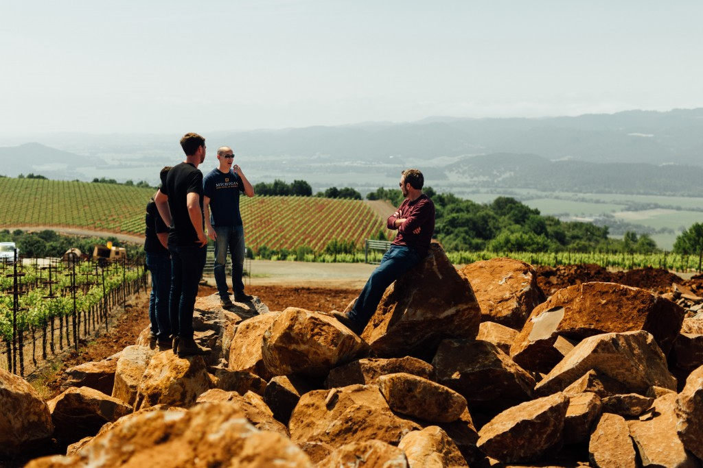 Winemakers Sam & Lloyd discuss development with Jason